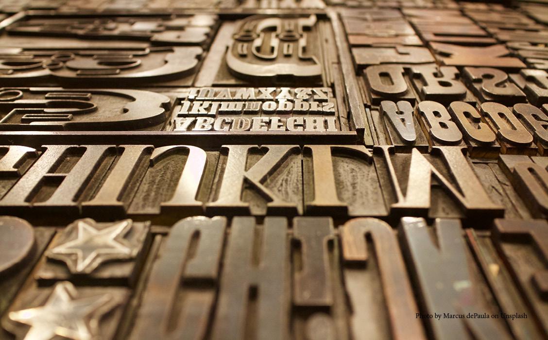 Combineren lettertypen branding